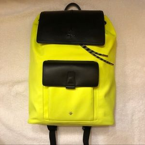 Dior backpack- fluorescent yellow. New